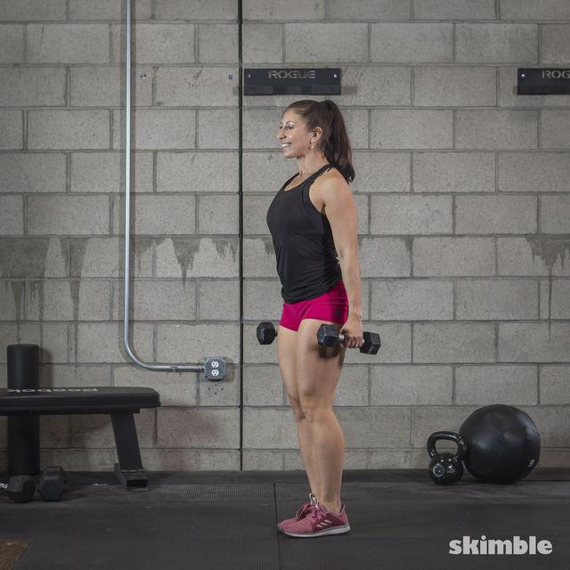 How to do: Dumbbell Single Leg Seesaws - Step 15