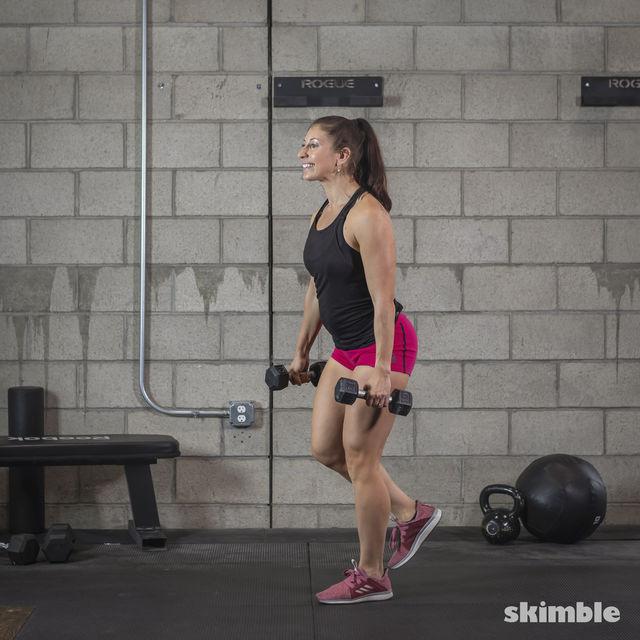 How to do: Dumbbell Single Leg Seesaws - Step 10