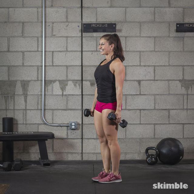 How to do: Dumbbell Single Leg Seesaws - Step 7