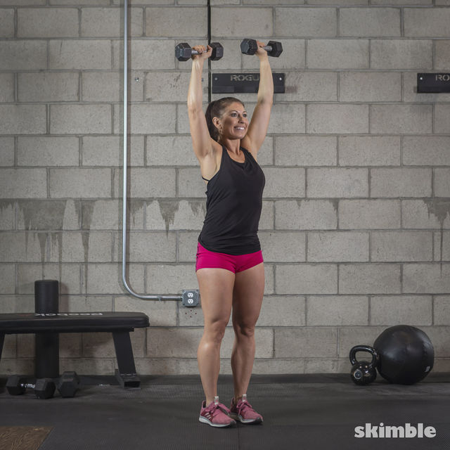How to do: Dumbbell Hammer Curl to Press - Step 13
