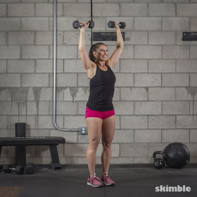 How to do: Dumbbell Hammer Curl to Press - Step 6