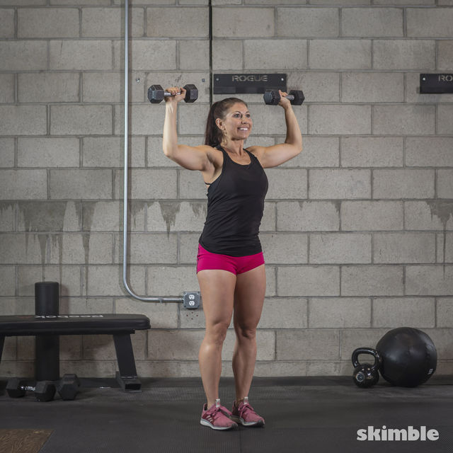 How to do: Dumbbell Hammer Curl to Press - Step 10