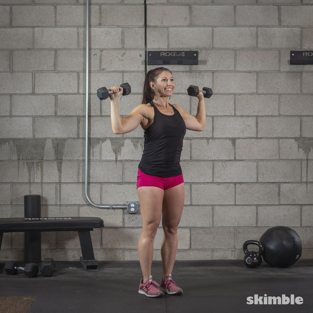 How to do: Dumbbell Hammer Curl to Press - Step 9