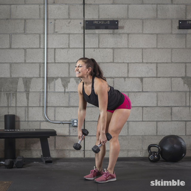 How to do: Dumbbell Deadlifts - Step 2