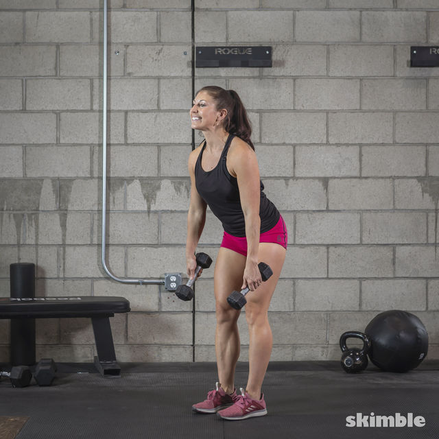 How to do: Dumbbell Deadlifts - Step 5