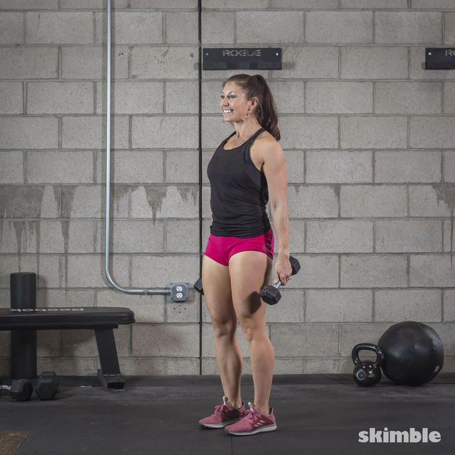 How to do: Dumbbell Romanian Deadlifts - Step 1