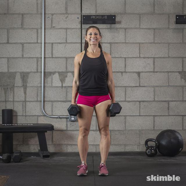 How to do: Dumbbell Shrugs - Step 3