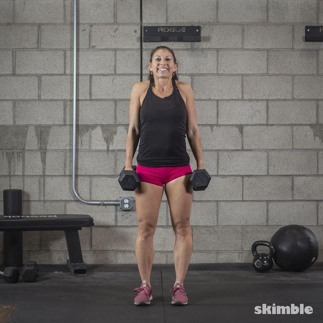How to do: Dumbbell Shrugs - Step 2