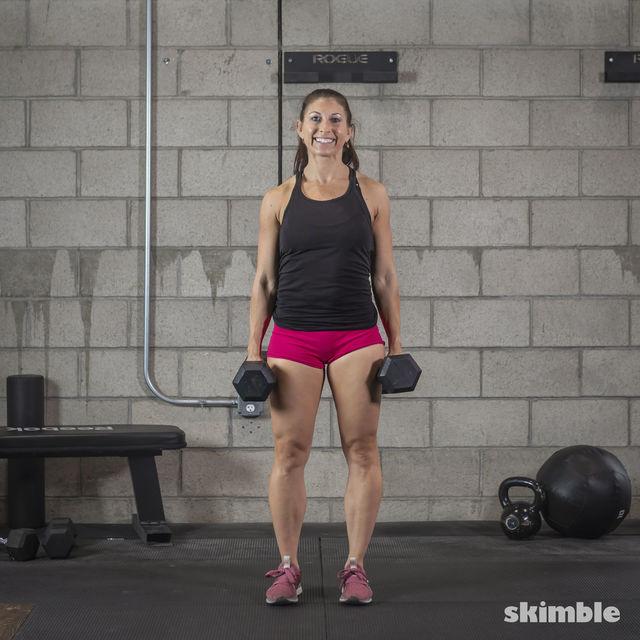 How to do: Dumbbell Shrugs - Step 1