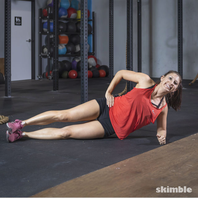 How to do: Side Plank Dips - Step 4