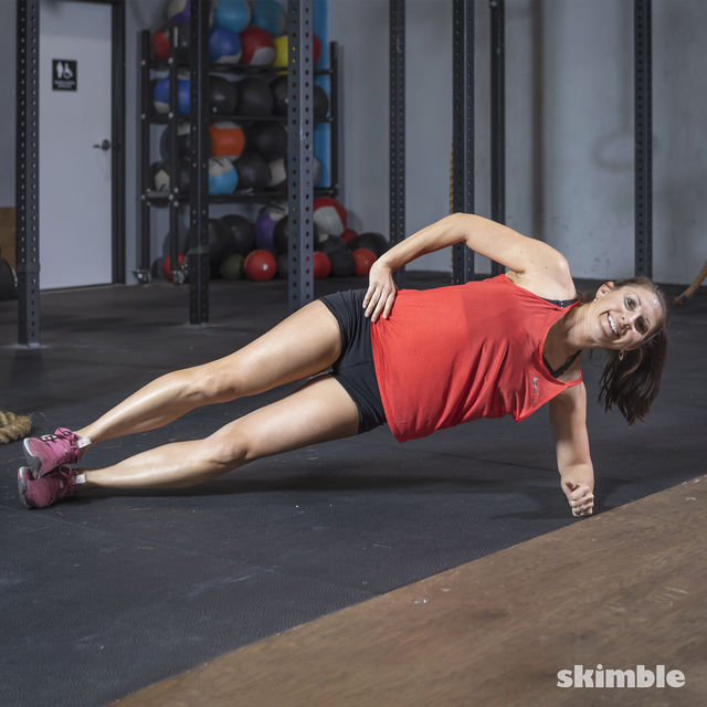 How to do: Side Plank Dips - Step 5