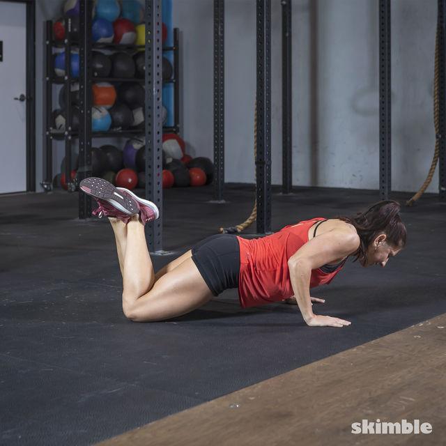 How to do: Kneeling Push-Ups - Step 2