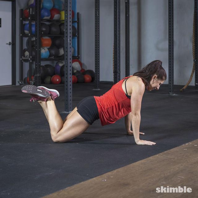 How to do: Kneeling Push-Ups - Step 1