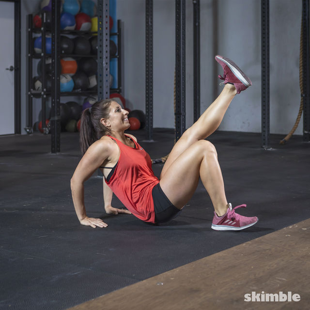 How to do: Dips with Leg Extension - Step 10