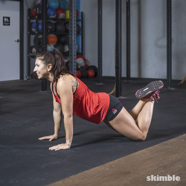 How to do: Kneeling Plank - Step 1