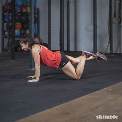 Kneeling One-Legged Push-Ups