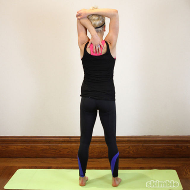 How to do: Left Tricep Stretch - Step 2