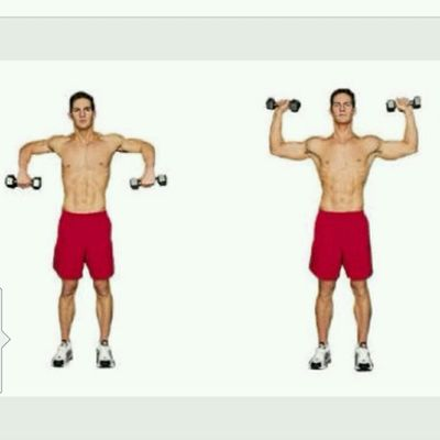 External Shoulder Rotations With Dumbbells