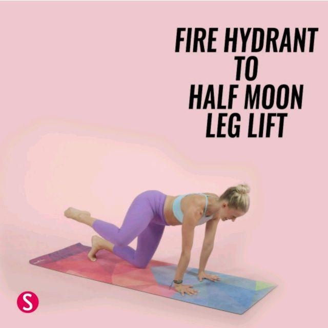 Fire Hydrant To Half Moon Leg Lift Exercise How To Workout Trainer By Skimble