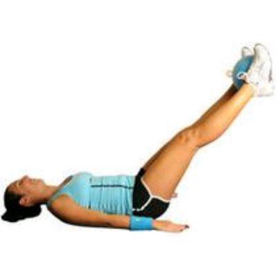 Medicine Ball Leg Lifts