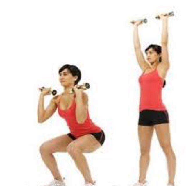 How to do: Dumbbell Squat Press - Step 1