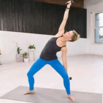Wide Stance Side Stretch Right