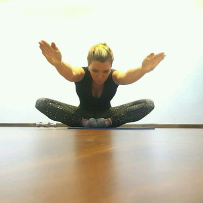 Butterfly Stretch - REACH FORWARD  & Hold