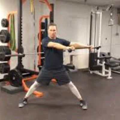 Wide Stance Rope Chops