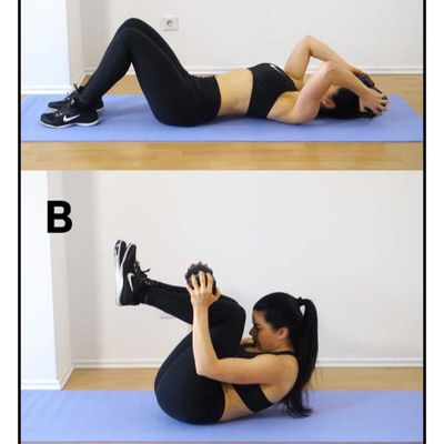 Weighted Crunch With Knees Bent