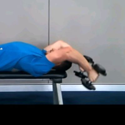Bench Dumbbell Tricep Pull Overs