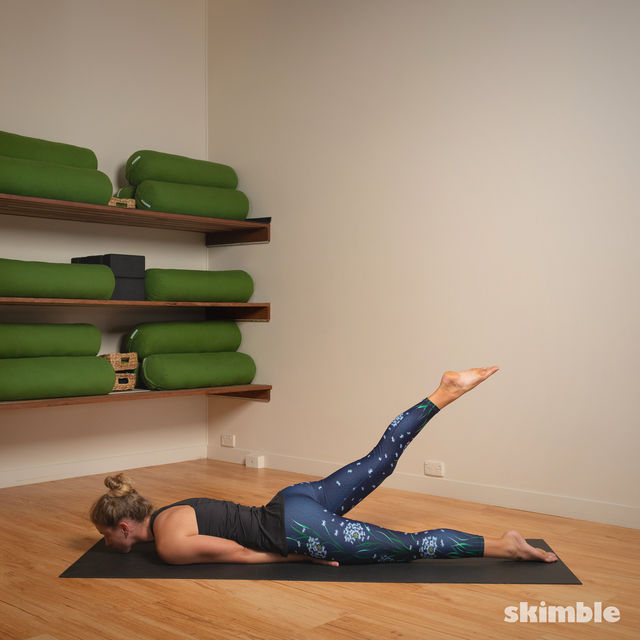 How to do: Hot Style Locust Pose - Step 3