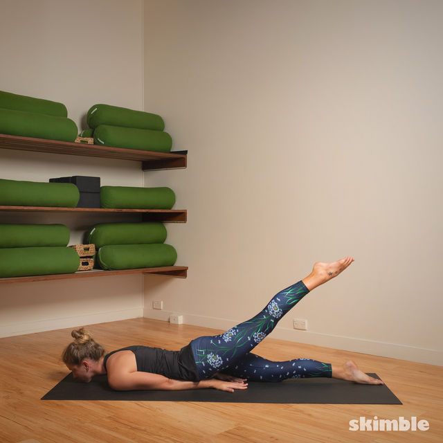 How to do: Hot Style Locust Pose - Step 4
