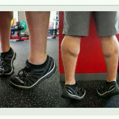 Standing Calf Raises toes Turned IN (12 -15 Reps)