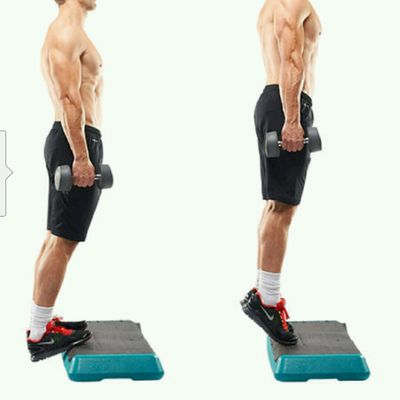 Standing Calf Raises toes Pointed Straight (15-20 Reps)