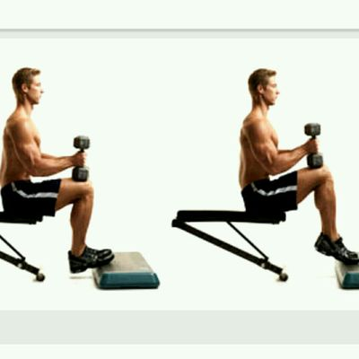 Seated Calf Raises Toes Turned IN (20-30 Reps)