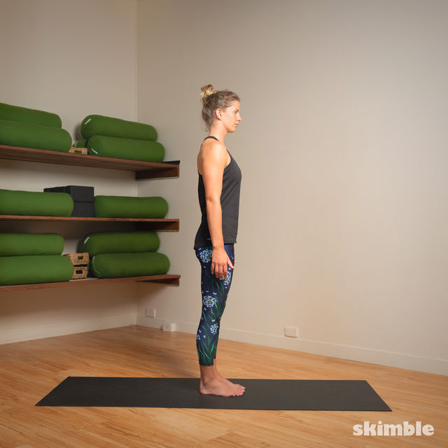How to do: Standing Bow Pose - Step 1