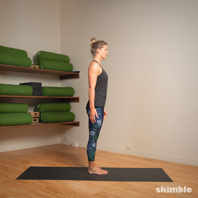 How to do: Standing Bow Pose - Step 7
