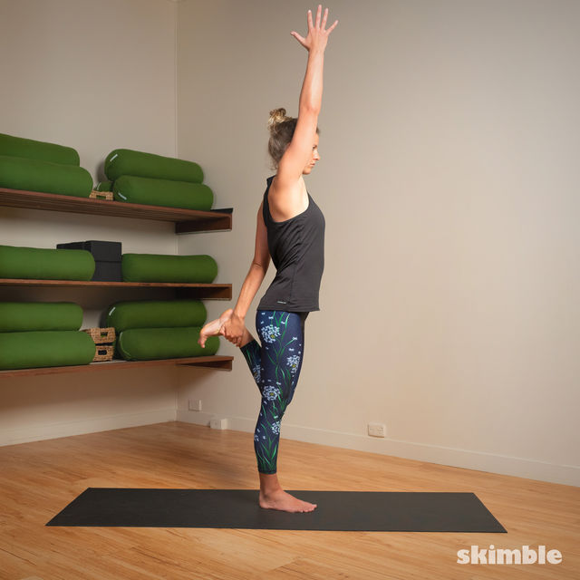 How to do: Standing Bow Pose - Step 10