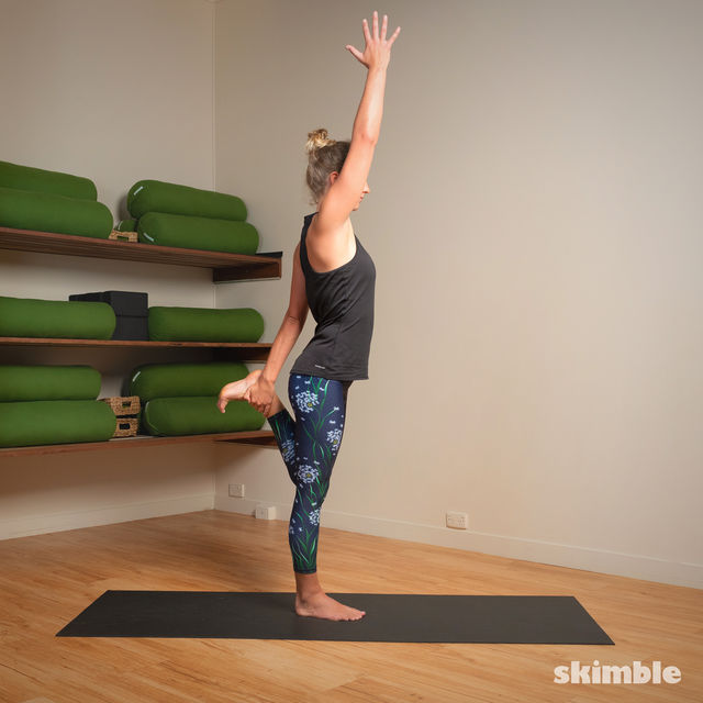How to do: Standing Bow Pose - Step 12