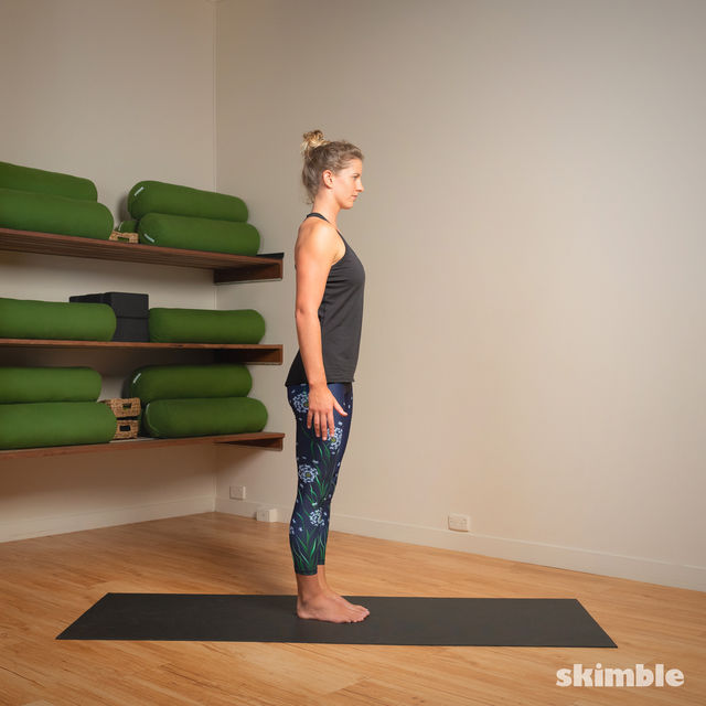 How to do: Standing Bow Pose - Step 13