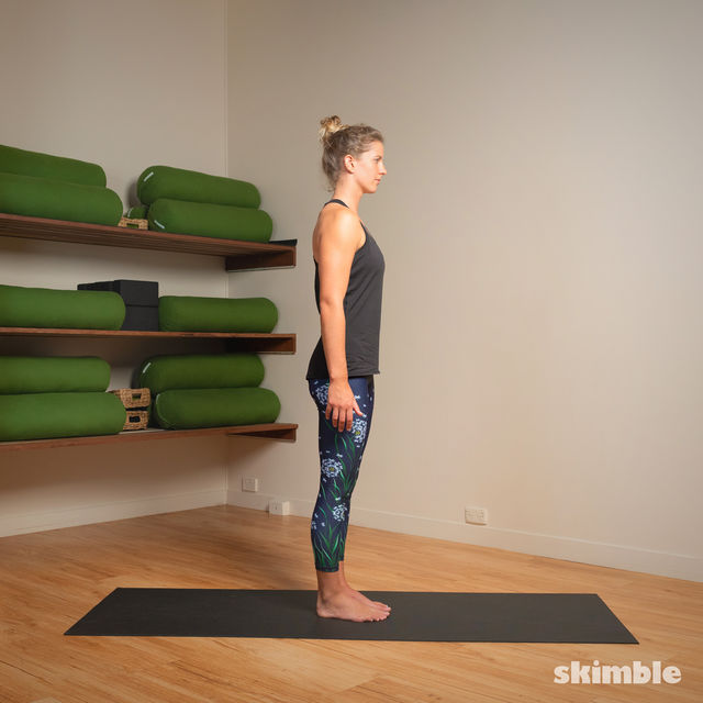 How to do: Standing Head to Knee Pose - Step 1