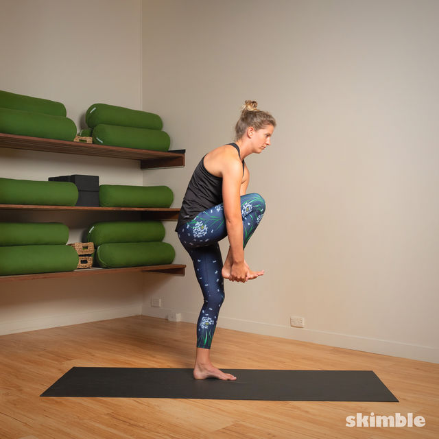 How to do: Standing Head to Knee Pose - Step 5
