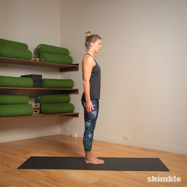 How to do: Standing Head to Knee Pose - Step 6