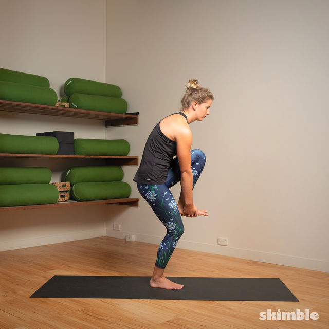How to do: Standing Head to Knee Pose - Step 7