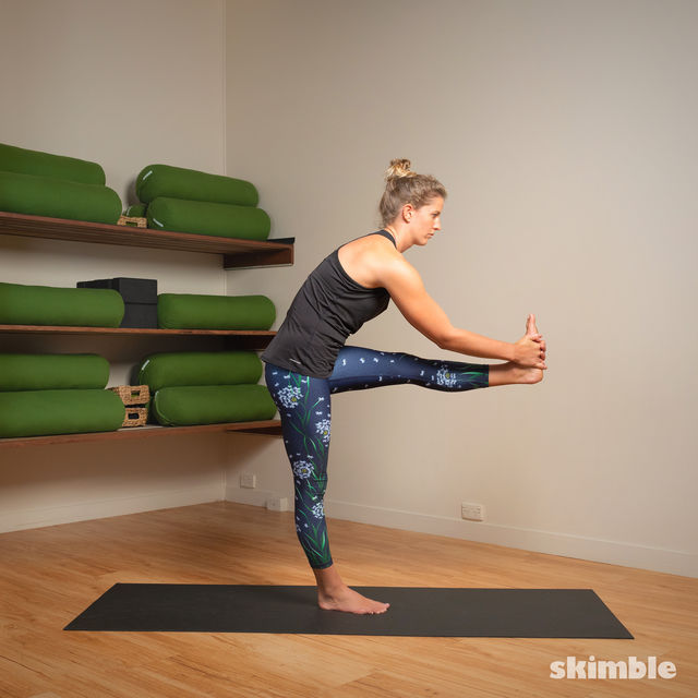 How to do: Standing Head to Knee Pose - Step 8