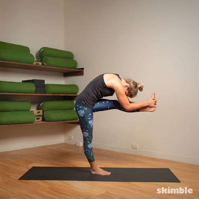 How to do: Standing Head to Knee Pose - Step 9