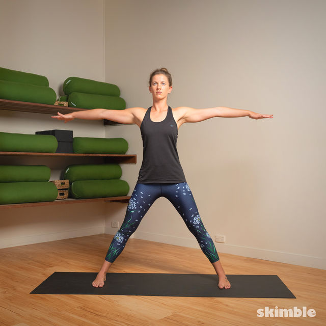 How to do: Standing Separate Leg Stretching Pose - Step 3