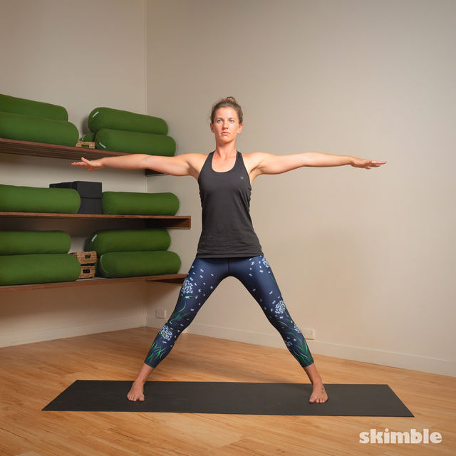 How to do: Standing Separate Leg Stretching Pose - Step 8