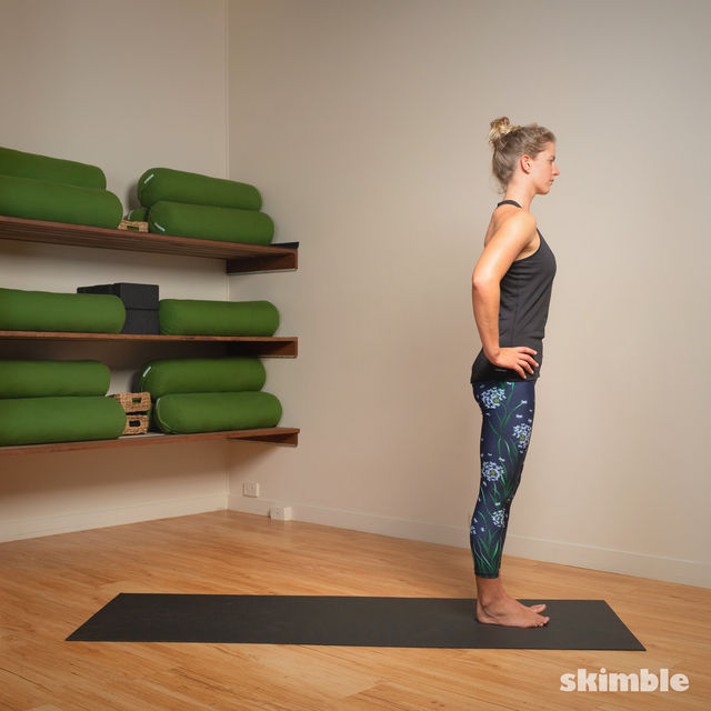 How to do: Standing Separate Leg Stretching Pose - Step 10
