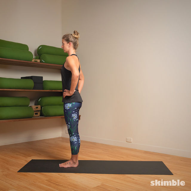 How to do: Standing Separate Leg Head to Knee Pose - Step 1